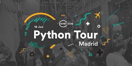 Python Tour Madrid - Kiwi.com entradas
