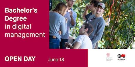 Laurea in Digital Management - Open Day 18 giugno biglietti