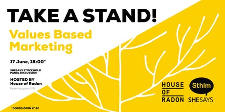 TAKE A STAND! - VALUES-BASED MARKETING tickets