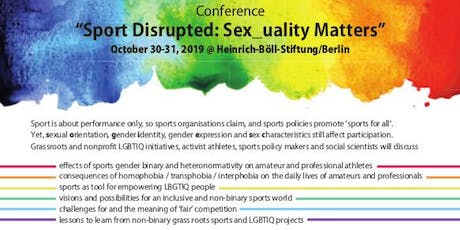 Sport disrupted: Sex_uality matters Tickets