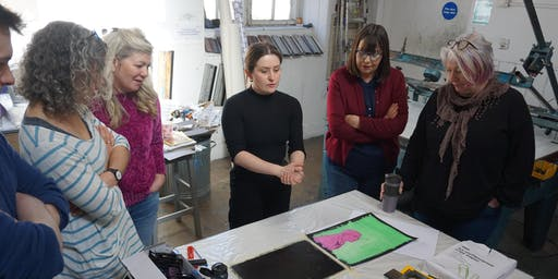 Learn Monoprinting with Caitlin Dick