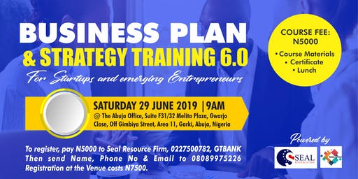 BUSINESS PLAN AND STRATEGY TRAINING 6.0