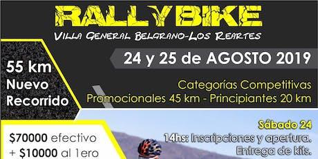 RALLY BIKE VILLA GRAL BELGRANO LOS REARTES entradas