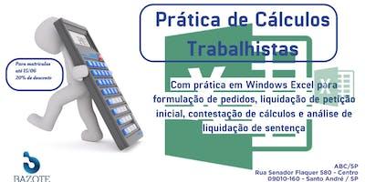 Curso de cálculos trabalhistas com uso prático de planilha EXCEL.