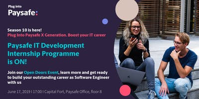 Plug Into Paysafe X Generation. Boost your IT career.