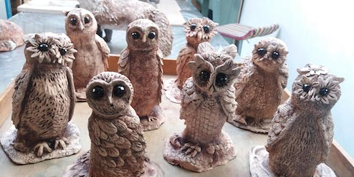Quirky Owl Sculpture Workshop; includes workshop & meal at Plenty