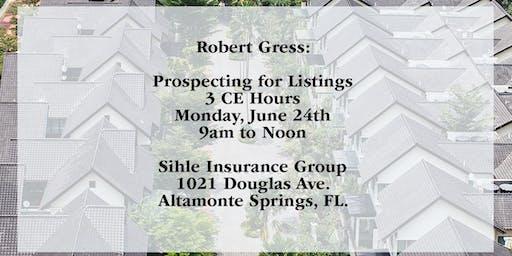 ALTAMONTE SPRINGS: Robert Gress June 3 CE
