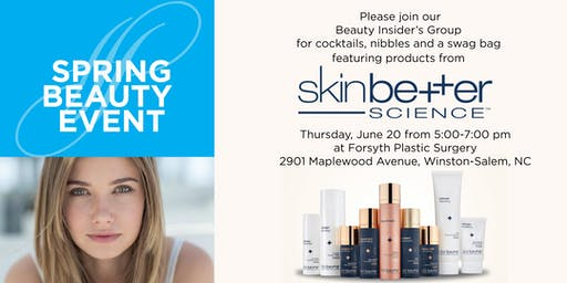 Spring Beauty Event featuring SkinBetter Science Products