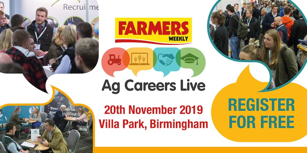 Ag Careers Live Tickets, Wed 20 Nov 2019 at 10:00 | Eventbrite