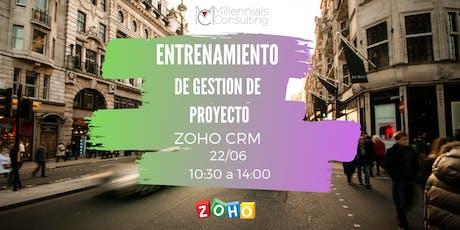 Entrenamiento Gestión de Proyectos en Zoho CRM  entradas