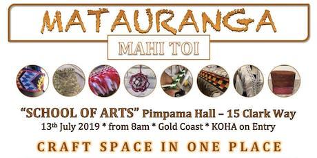 MATAURANGA MAHI TOI - CRAFT SPACE & MARKET STREET tickets
