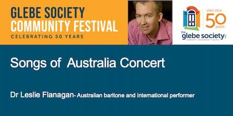Songs of Australia Concert tickets
