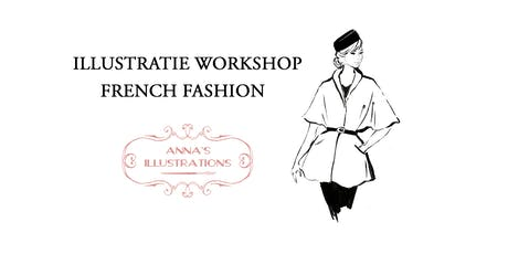 Workshop mode illustraties - thema French Fashion  tickets