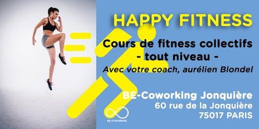 Cours de fitness chez BE-Coworking