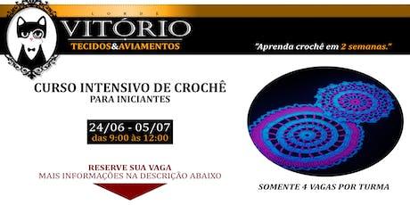 Curso Intensivo de Crochê para Iniciantes 24/06/19 ingressos