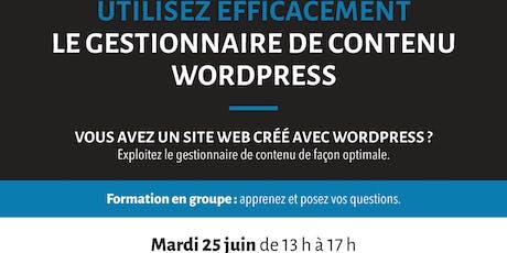 Formation: Utilisez efficacement le gestionnaire de contenu WordPress tickets