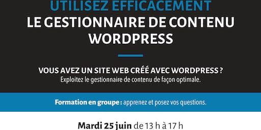 Formation: Utilisez efficacement le gestionnaire de contenu WordPress