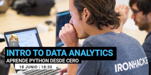 Intro to Python: aprende Data Analytics