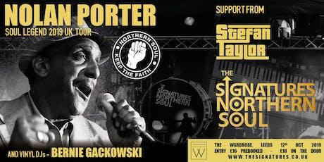 The Signatures + Nolan Porter- Melton Mowbray tickets