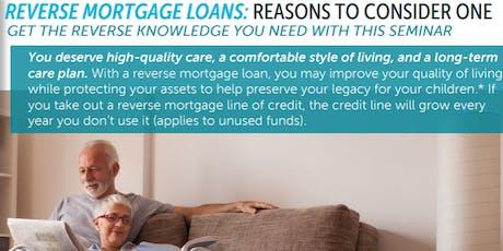 Reverse Mortgage Loan Seminar tickets