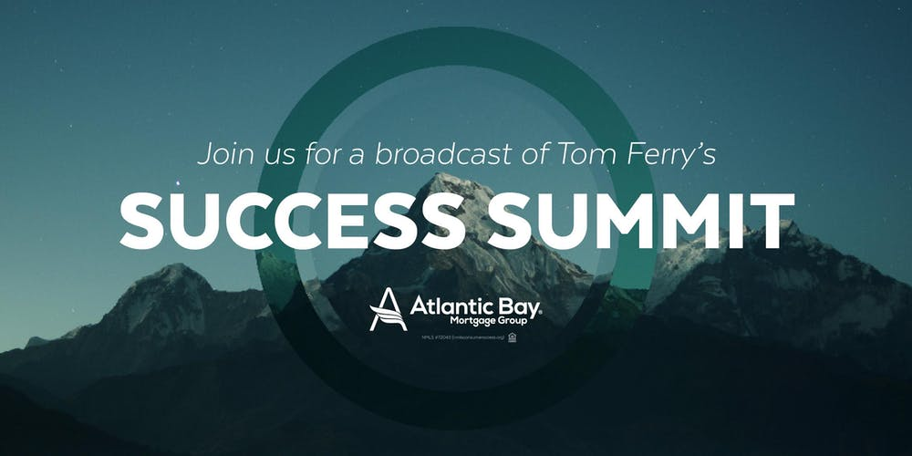 Tom Ferry Success Summit - Broadcast Tickets, Mon, Aug 19, 2019 at 9