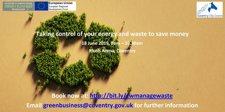 Taking control of your organisations energy and waste to save money tickets