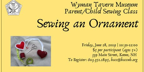 Kids Craft at the Wyman Tavern: Pincushion / Ornament tickets