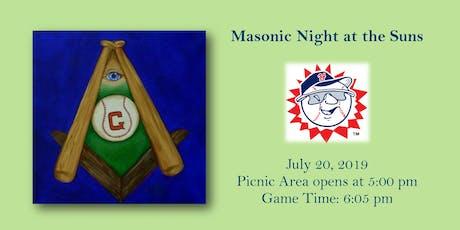 Masonic Night at the Suns tickets
