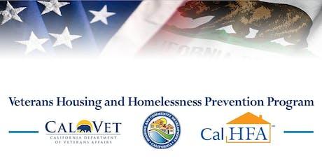 Veterans Housing and Homelessness Prevention Program Outreach  tickets