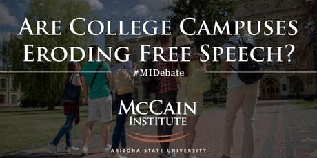 Debate & Decision Series: Are College Campuses Eroding Free Speech? tickets