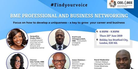 Find your Voice! - A free BME networking event tickets