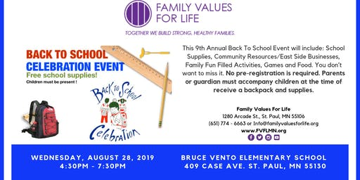 9th Annual Back To School Event