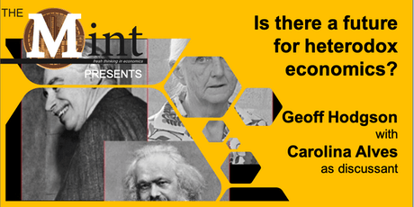 Is there a future for heterodox economics? tickets