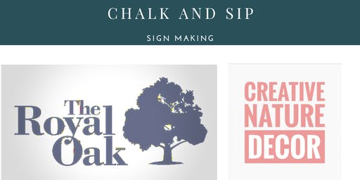 Chalk and Sip at The Royal Oak On Wellington