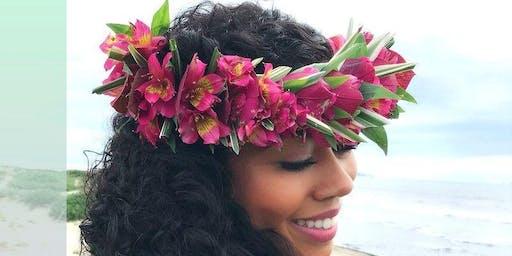 Seaside Makers Floral Lei Po'o Workshop