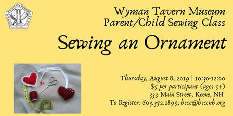 Kids Craft at the Wyman Tavern: Pincushion/Ornament tickets