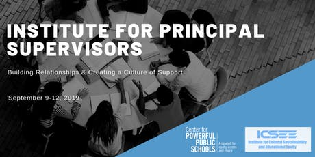 Institute for Principal Supervisors  tickets
