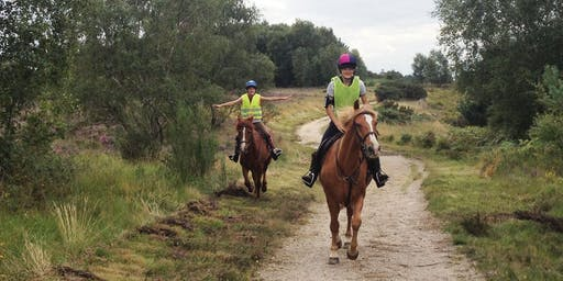 Sponsored Ride on Chobham Common in aid of Quest Riding for the Disabled