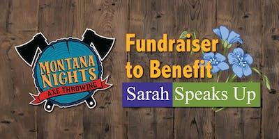 Sarah Speaks Up FUNdraiser