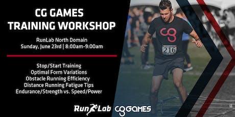 CG Games Training Workshop with RunLab tickets