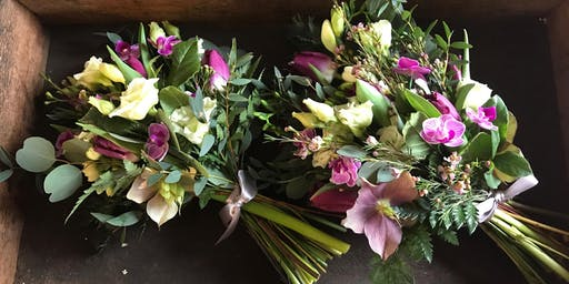 Summer hand tied bouquet workshop
