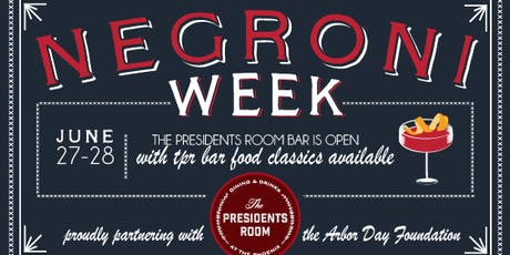 The Presidents Room: Negroni Week tickets