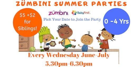 ZUMBINI Summer Parties 0- 4Yrs