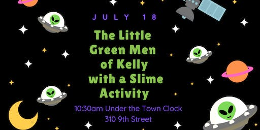 The Little Green Men of Kelly with Slime Activity