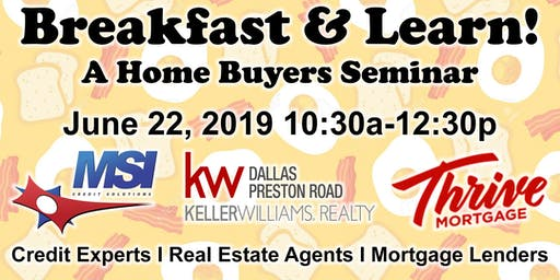 Breakfast & Learn - A Home Buyers Seminar