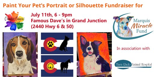 Paint Your Pet's Portrait or Silhouette on Flag Fundraiser for Marquis Miracle Fund