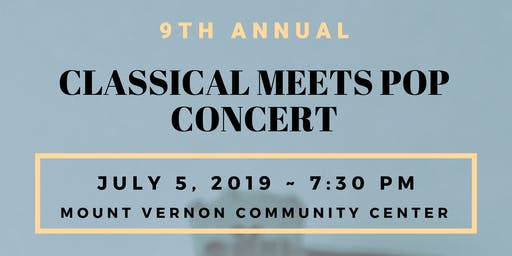 9th Annual Classical Meets Pop Concert