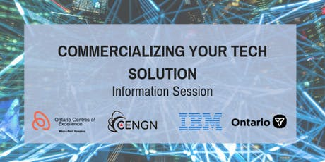 Commercializing your Tech Solution tickets