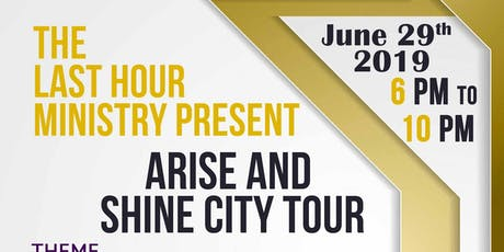 ARISE and SHINE CityTour. Theme: Who Am I? tickets