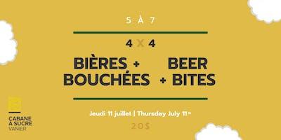 5 à 7 - Bières et bouchées   Beer & bites